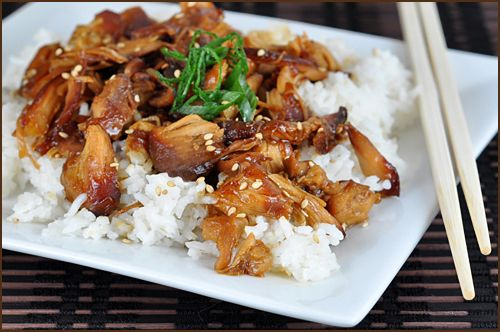 Honey Sesame crock pot chicken.