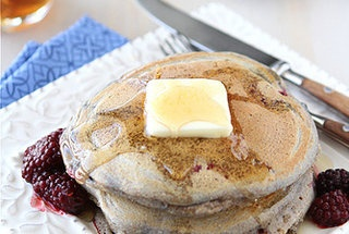 Whole Wheat heaven Pancakes with Ginger and Berries.