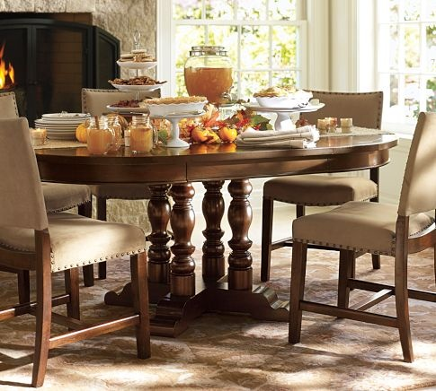 Greyson Chairs Hayden Extending Pedestal Dining Table Pottery Barn