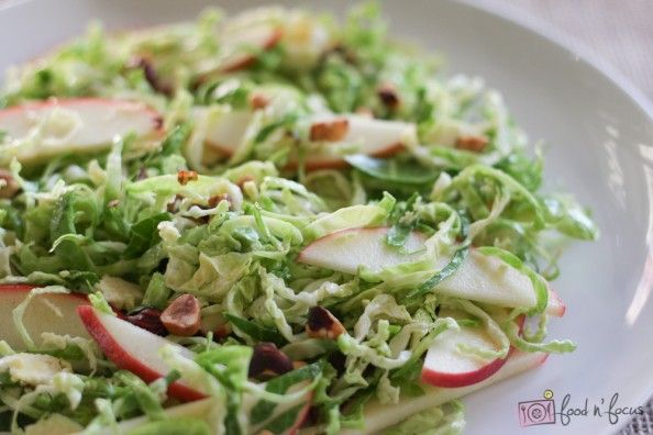 Shaved Brussels Sprouts With Apples, Hazelnuts & Brown Butter Dressing ...