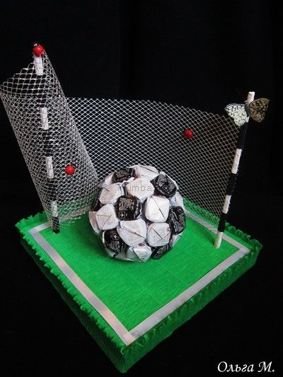 Поделка из футбольного мяча 622