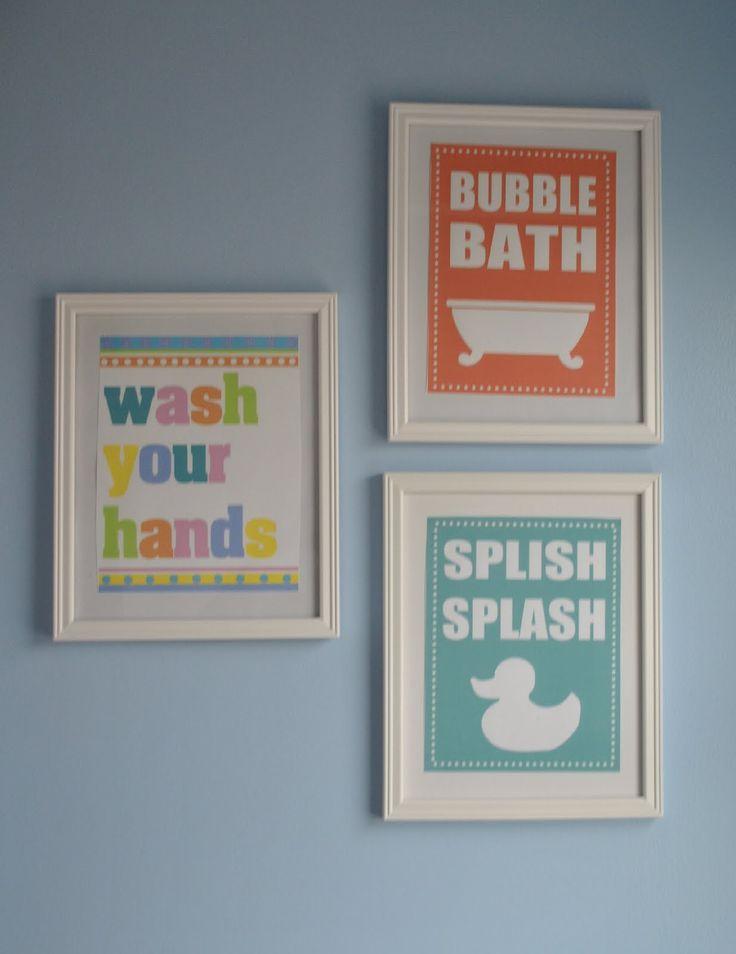 Printable Wall Decor Pinterest : Cute wall art for kids bathroom printables