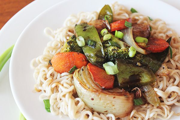 Noodles with Roasted Soy Veggies - love your veggies?