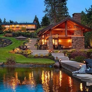 Beautiful lakeside house dream home for Beautiful dream house pictures