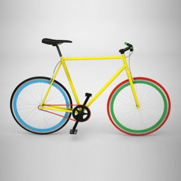 Bike Large Multicolor  by Bike By Me