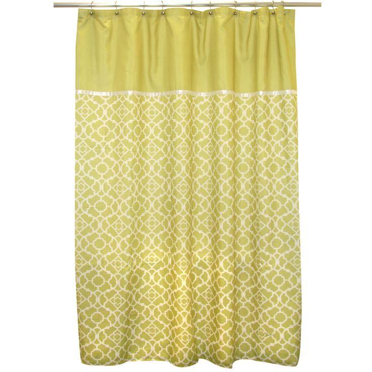 Waverly Lovely Lattice Citron Shower Curtain