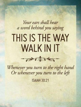 isaiah 30 21 devotional