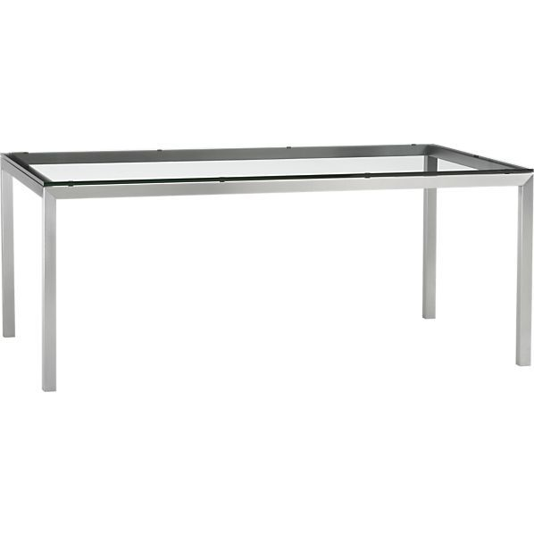 Top 72x42 Dining Table With Stainless Steel Base In Dining Tables