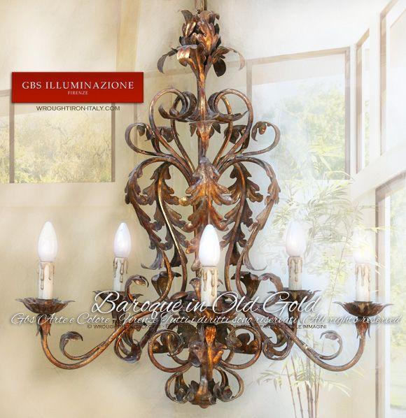 Hair Style Jure : Baroque Chandelier GBS Firenze  Wrought Iron 6-light Chandelier