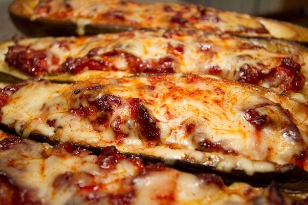 Smoked Sausage Stuffed Zucchini Boats | Veggie-licious! | Pinterest