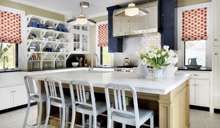 RWB kitchen  Red White and Blue Farmhouse  Pinterest
