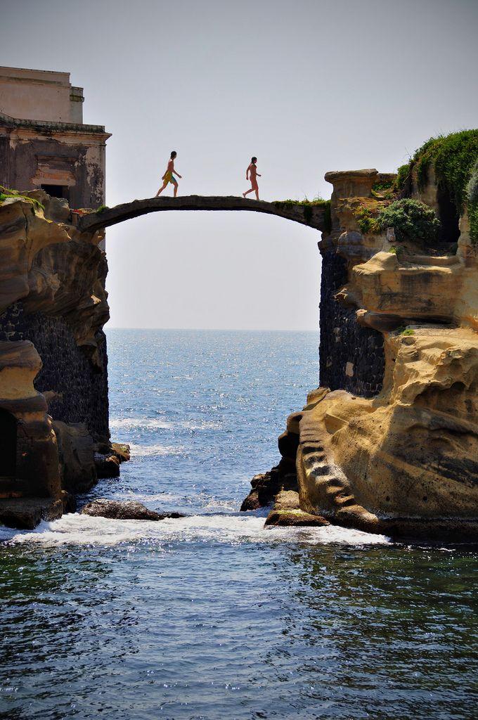 Gaiola Bridge in Naples, Italy