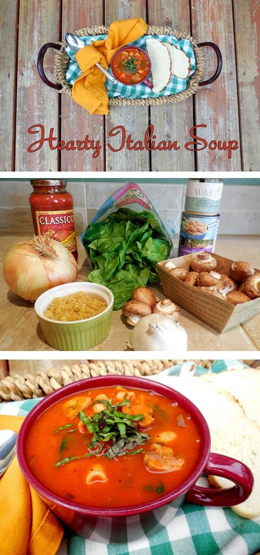 Hearty Italian Soup | food - soups/stews/chilis | Pinterest