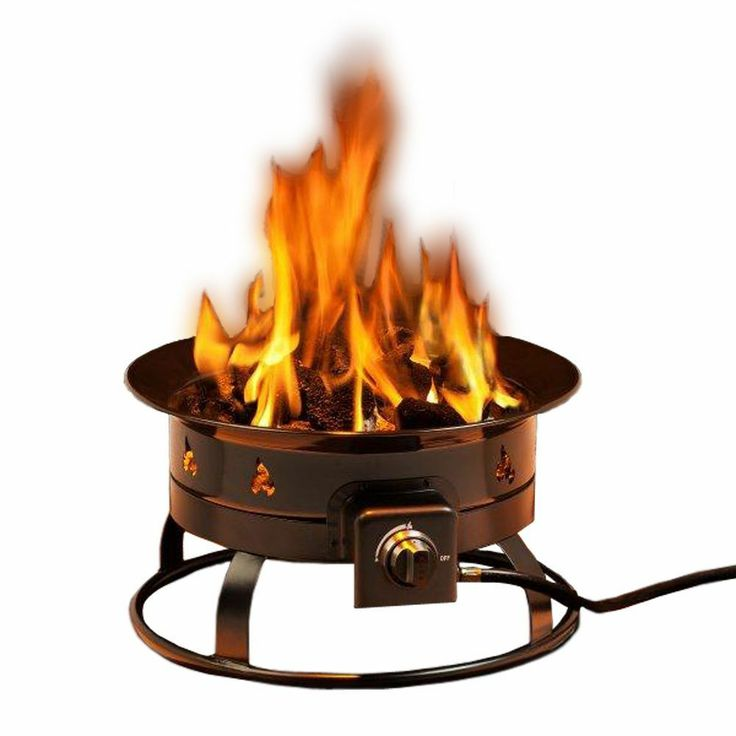 Portable Outdoor Fire Pit Grill : Outdoor Patio Gas Firepit Patio Portable Fireplace Heater Grill Deck