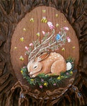 Acrylic on Molded Plastic - By Brandy Rumiez