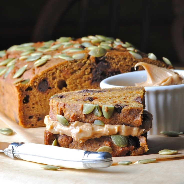 Low Fat Pumpkin Bread w/Chocolate Chips | NOMMYNOM | Pinterest
