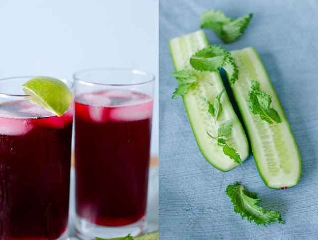 Hibiscus Tea with Lime + an Ayurvedic cooling and refreshing Garbanzo ...