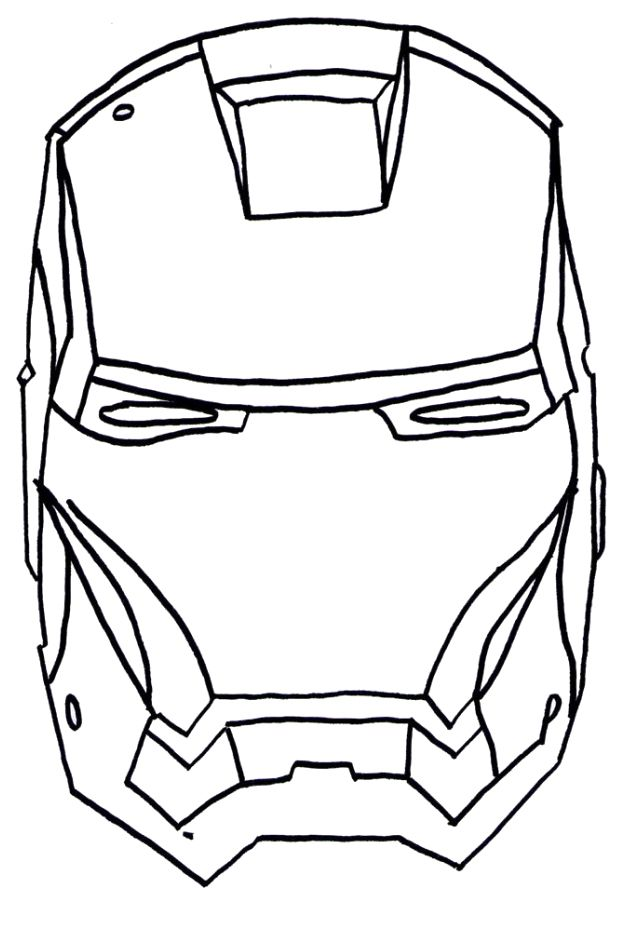 iron man face coloring pages face iron man coloring page kid stuff pinterest