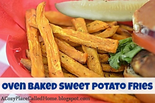 Cozy Place Called Home: Oven Baked Sweet Potato Fries (Low Fat And ...