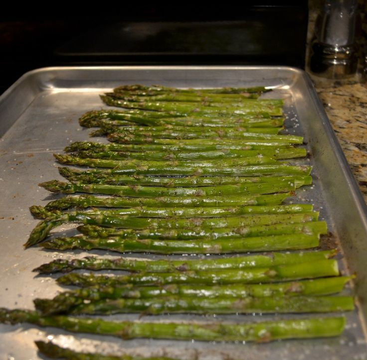 Oven Roasted Asparagus. This basic recipe is our favorite!