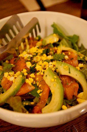avocado and salmon sashimi salad | THE Food | Pinterest