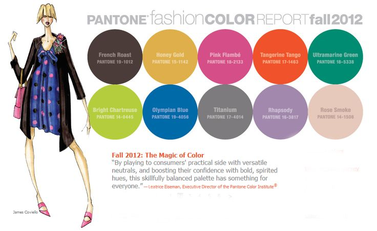 Pantone Fashion Color Report Fall 2012 - image from Pantone's website