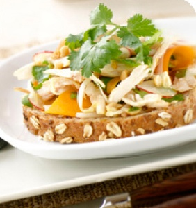 asian chicken open faced sandwich... | recipes: sandwichedWraps | Pin ...