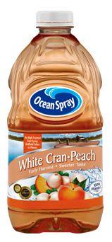 Ocean spray white cranberry peach juice. Best summer drink, Put some ...