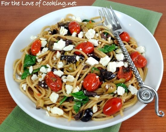 Linguine With Tapenade, Tomatoes, And Arugula Recipes — Dishmaps
