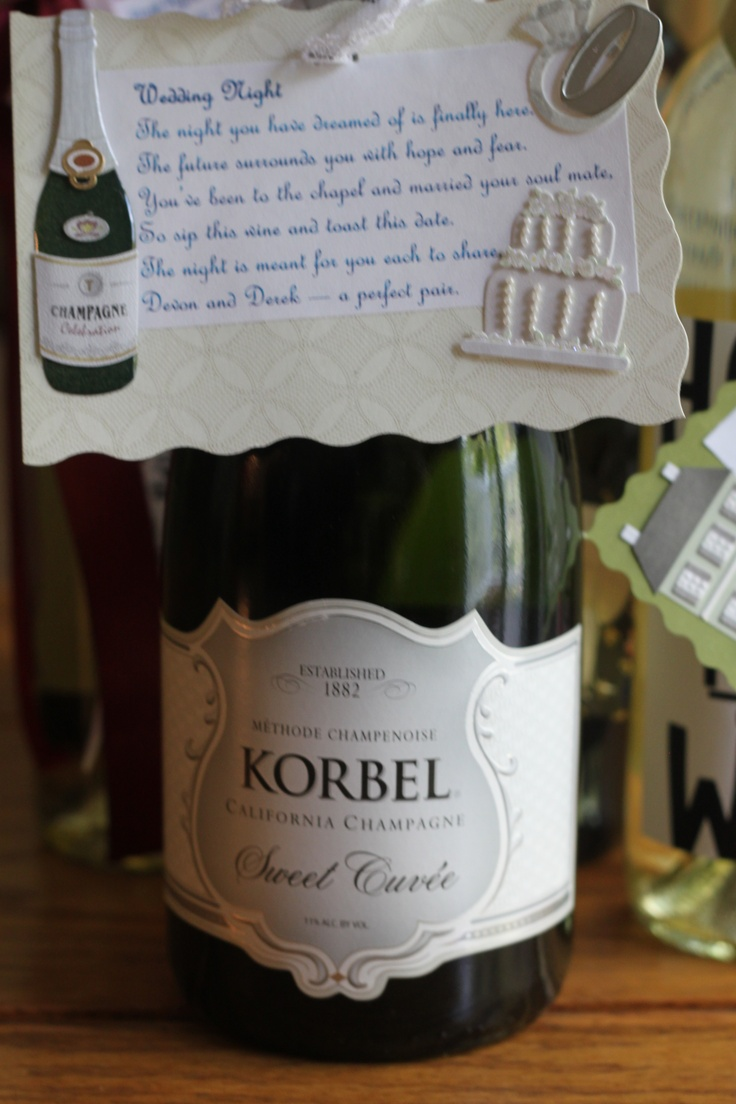 Wedding Gift Wine Bottle Poems : Wine Gifts