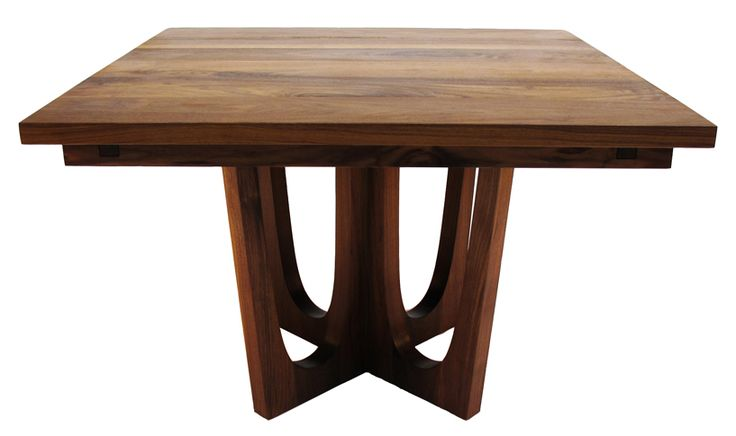 modern, expandable walnut dining table  For the Home  Pinterest