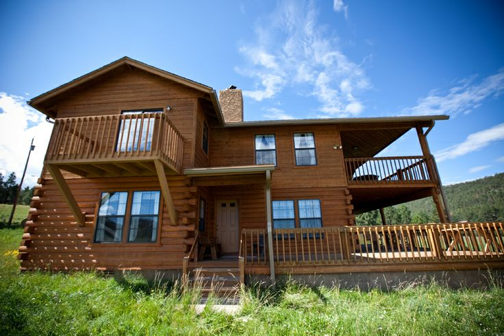 Pin by molly butler lodge in greer arizona on breathtaking cabins - Small log houses dream vacations wild ...