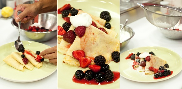 ... crepes with berries and ricotta ricotta filled crepes with berries