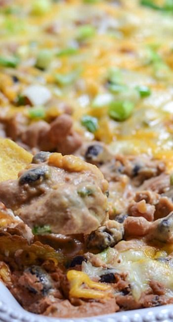Warm Cheesy Bean Dip | Recipe