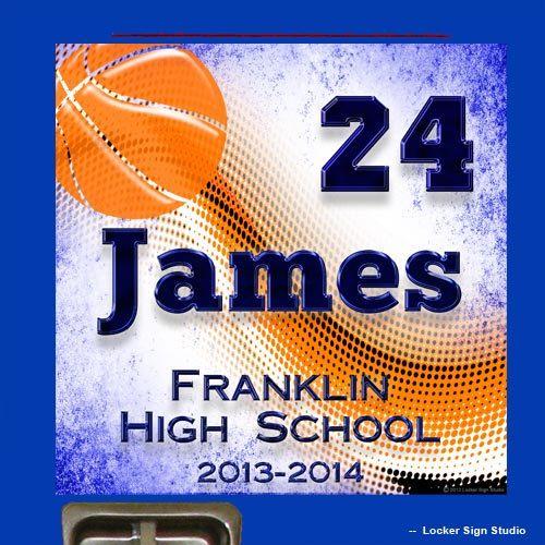 Basketball Locker Sign - Personalized Basketball Locker Decoration wi ...