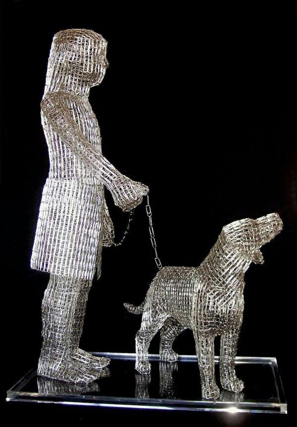 Paper clip sculpture | Art | Pinterest