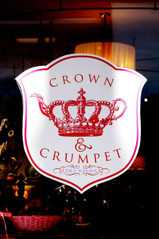 want to go here someday! The Crown and Crumpet tea salon....looks ...