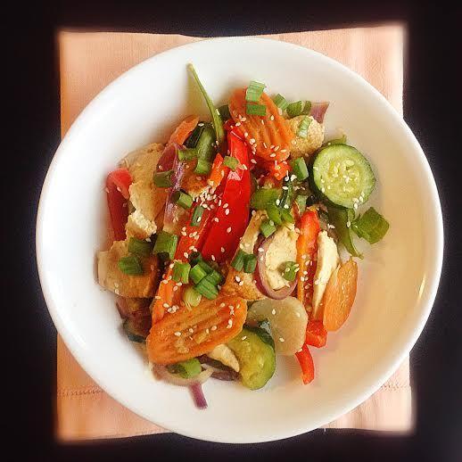 Spicy Garlic Tofu Stir Fry | Yummies in the tummies | Pinterest