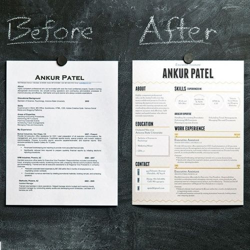 a better resume graphic design diy