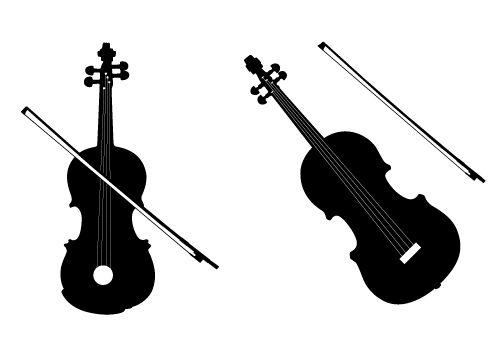 Free Violin Vector #silhouette | Silhouette Clip Art ...