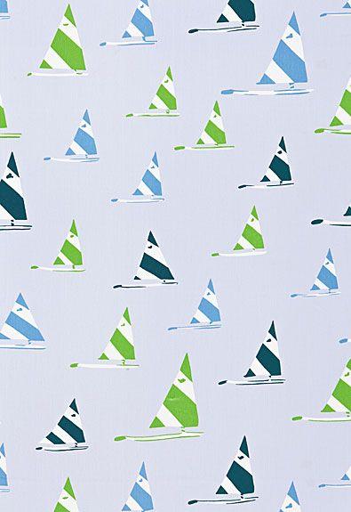 Sailboat Schumacher Fabric