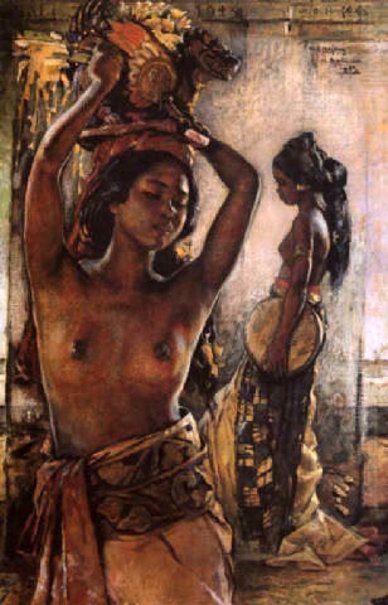 Balinese Beauty by by Willem Gerard Hofker (1902 – 1981, Dutch