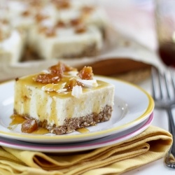Candied Ginger Cheesecake Bars || No-Bake High Protein Candied Ginger ...