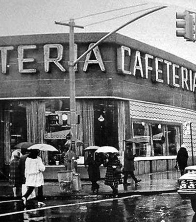 Garfield's Cafeteria, Flatbush at Church Avenue, Brooklyn--Gone, but not forgotten.