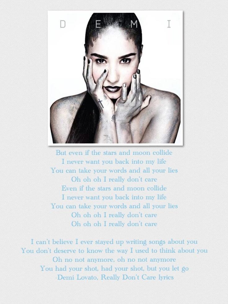 demi lovato song lyrics really don t care lyrics demi lovato