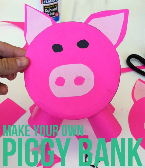 Diy piggy bank for kids artistic ideas pinterest for How to make a simple piggy bank