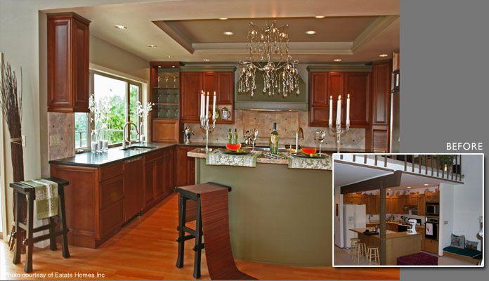 Small split entry kitchen remodel of split share your for Kitchen designs for split level homes
