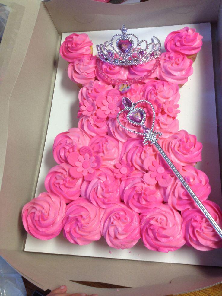 Princess Cupcake Cake Images : Pink princess dress cupcake cake Sofia Pinterest
