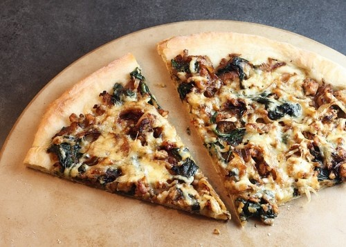 Fennel, Sausage, Spinach and Sweet Onion Pizza