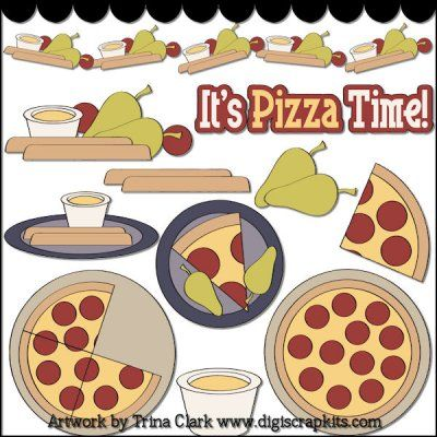 Pizza Party 1 Clip Art | ClipArt: Baking~Cooking~Treats | Pinterest